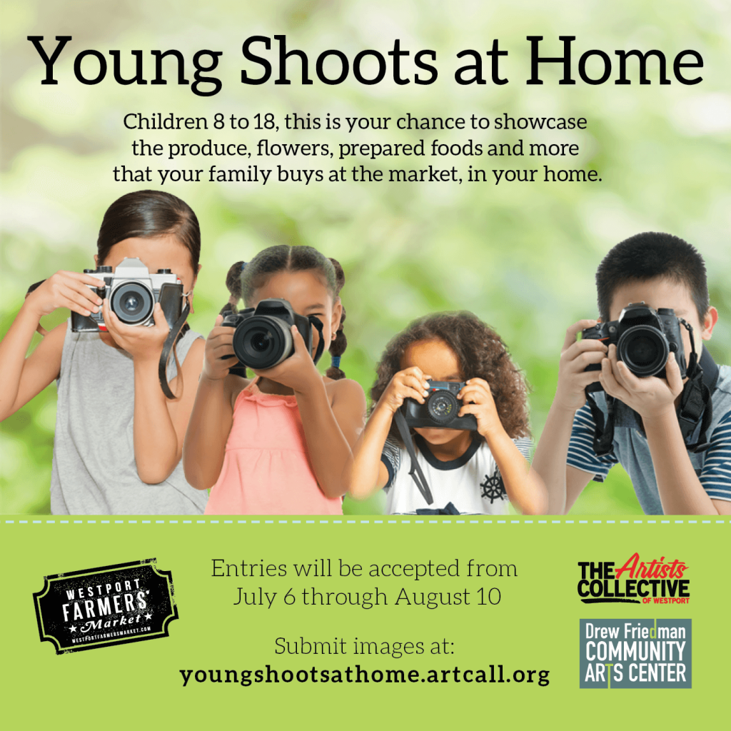 Young Shoots entries accepted from July 6 through August 10 - Submit images at youngshootsathome.artcall.org